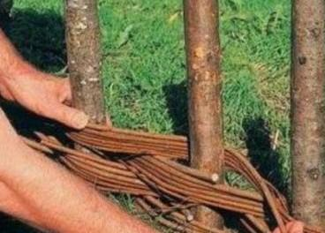 Плетений паркан своїми руками для дачі