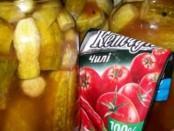 Рецепт: огірки з кетчупом Чилі Торчин