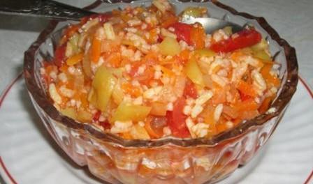 Салат з рисом на зиму