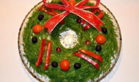 Різдвяні салати - кулінарні рецепти приготування салатів на Різдво Христове з фото