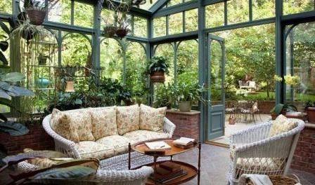 Зимовий сад в будинку своїми руками. Фото
