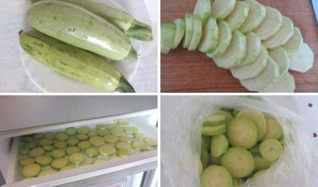 Як правильно заморозити кабачки на зиму свіжими в домашніх умовах