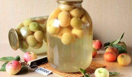 Як закрутити компот з яблук на зиму (рецепт з фото)
