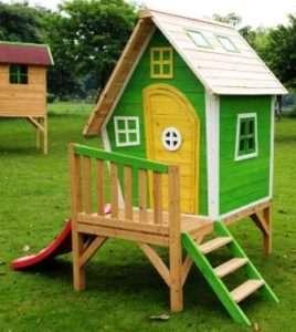 ігровий будинок з гіркою