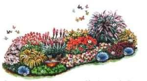 Схема квітника з медоносними рослинами