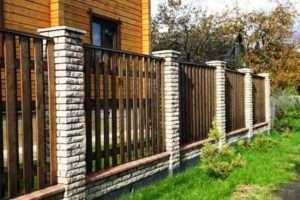 встановлення дерев'яного паркану