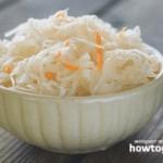 Квашена капуста – покрокові рецепти з фото та відео