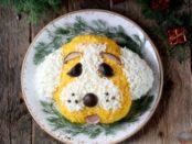 Новорічний салат Собачка: Рецепт приготування з фото