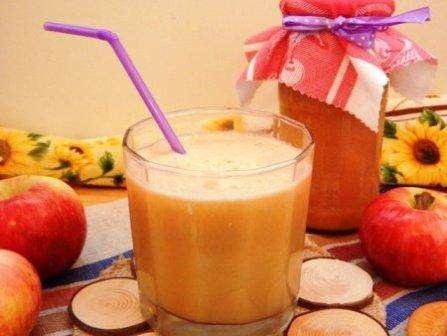 Гарбузовий сік з яблуком і апельсином на зиму