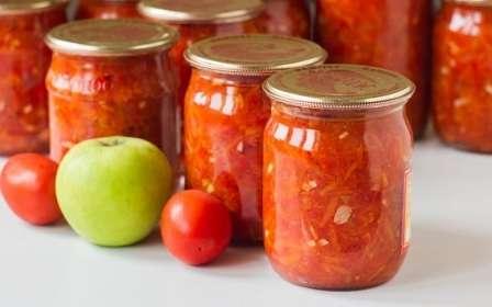 Кетчуп з помідорів з яблуками та морквою