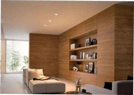 Декоративне оздоблення стін вітальні деревом