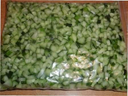 Заморожені огірки на зиму